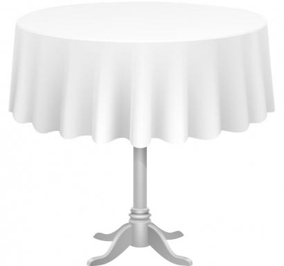Покривка за еднократна употреба кръгла, цвят бял, ф 213 см