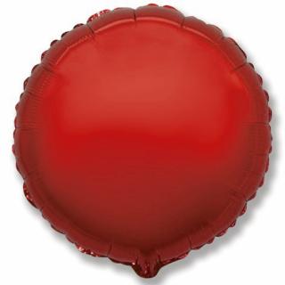 Фолиев балон кръг цвят червен, 45 см Flexmetal, /Gd/
