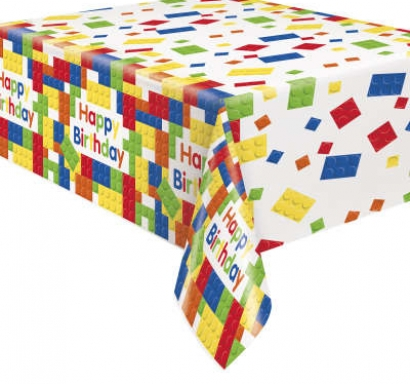 Покривка за еднократна употреба,  Строителни блокчета, Лего 137х213 см, Building Blocks