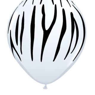 Балон с печат Зебра Сафари Джунгла, диаметър 30 см, 5 бр. в пакет