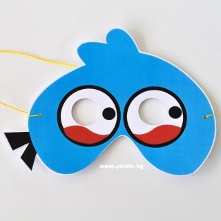 Парти маска Енгри Бърдс синьо пиле
