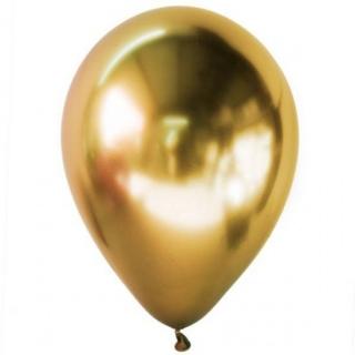 Балон хром злато, диаметър 30 см