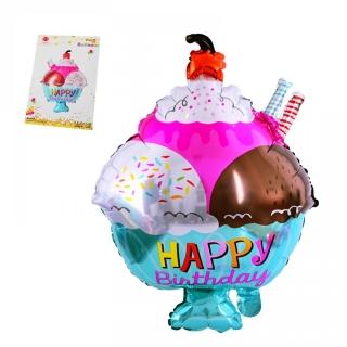Фолиев балон Мелба сладолед, 49х76 см