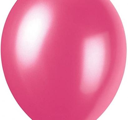 Балон червен роза перлен, диаметър 30 см, 10 бр. в пакет