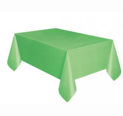 Покривка за еднократна употреба, зелена лайм 137х274 см