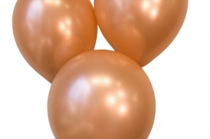 Балон розово злато металик, диаметър 30 см, 10 бр. в пакет