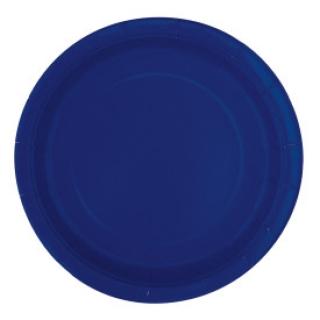 Хартиена парти чинийка тъмно синя, 23 см