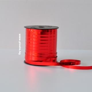 Лента за връзване на балони червена блестяща /10 метра/
