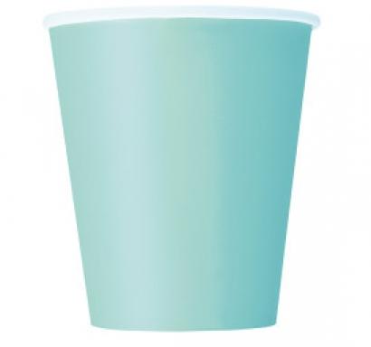 Хартиена парти чашка цвят мента 250 мл