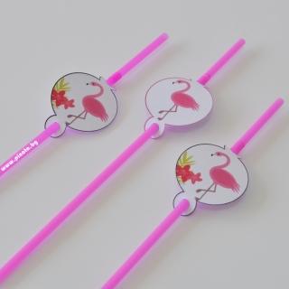Парти сламки с облър Фламинго