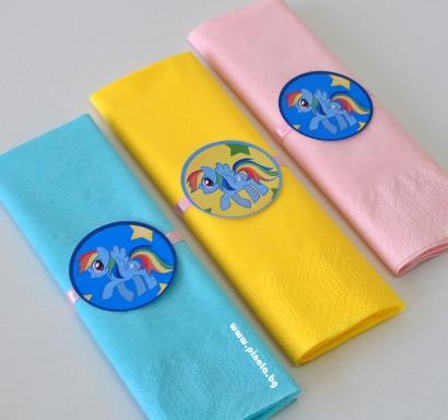Тематични парти салфетки Малкото Пони 33х33 см, 5 бр. пакет