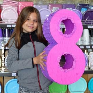 Пинята Цифра 8 Рожден Ден височина 55 см
