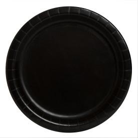 Хартиена парти чинийка черна, 18 см