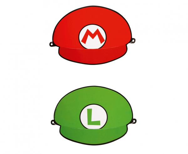 Парти шапка Супер Марио / Super Mario,  8 бр. в опаковка, два цвята /Gd/