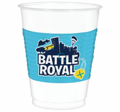 Пластмасова парти чашка Фортнайт / Battle Royal, 473 мл, 8 бр. в опаковка Amscan /Gd/