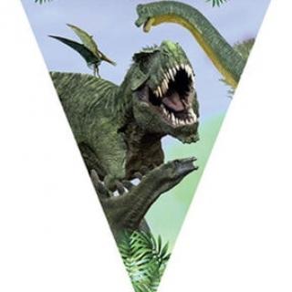 Банер гирлянд за декорация Динозаври, Джурасик Парк / Dinosaur Jurassik, 3,20 м дължина