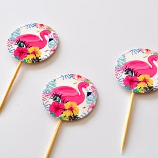 Топер за мъфини Фламинго, 20 бр. в опаковка