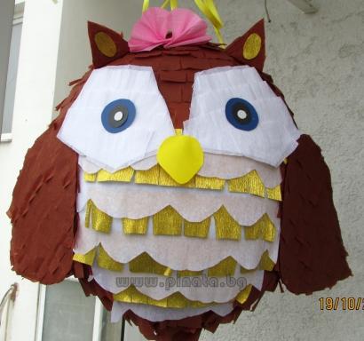 Пинята Бухалче диаметър 40 см/ OWL Pinata