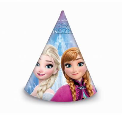 Парти шапка Елза и Ана Замръзналото Кралство / Frozen,  6 бр. в опаковка /Gd/