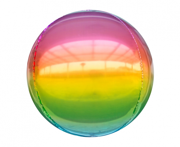Фолиев балон сфера,  диаметър 40 см, цвят дъга /Gd/