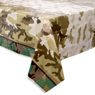 Покривка за еднократна употреба Камуфлаж, военни, 137х213 см, Military Camo