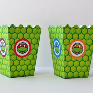 Парти кутийка за пуканки Костенурките Нинджа