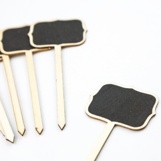 Табелки черна дъска с тебешир за сладък кът, 4бр в комплект