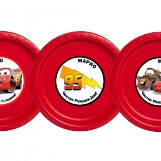 Персонализирана хартиена парти чинийка Маккуин Колите, 5бр. пакет