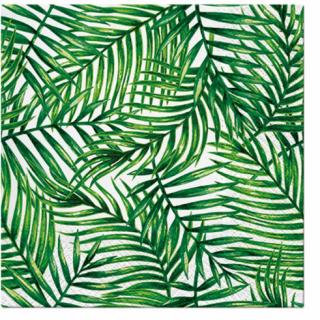 Парти салфетки Зелени тропически листа / Tropical Leaves, 20 бр в пакет