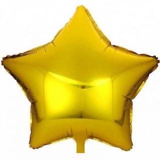 "Балон ""Звезда"" /фолио/,  златен 25 см"