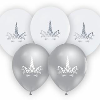 Комплект 5 бр. премиум балони Еднорог / Unicorn, микс цветовe  /Gd/