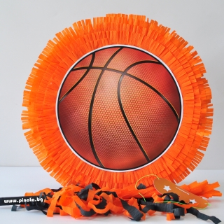 Пинята Баскетбол, топка, две лица 40х40 см