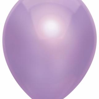 Балон светло виолетов металик, диаметър 30 см, 10 бр. в пакет