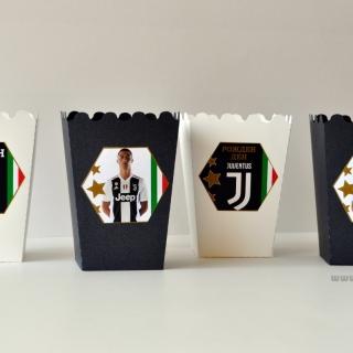 Персонализирана парти кутийка за пуканки Роналдо Ювентус