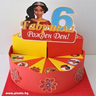 Хартиена торта с тематична декорация Елена от Авалор