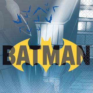 Парти салфетки Батман, 16 бр в пакет, лиценз DC Comics