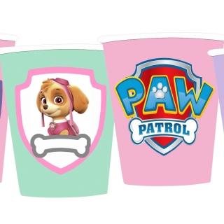 Персонализирана хартиена парти чашка 250 мл Скай и Еверест Пес Патрул, 5бр. пакет
