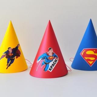 Персонализирана парти шапка Супермен