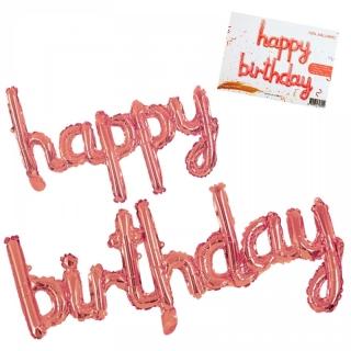 """Балон надпис """"Happy Birthday"""" /розов/,  124 см"""
