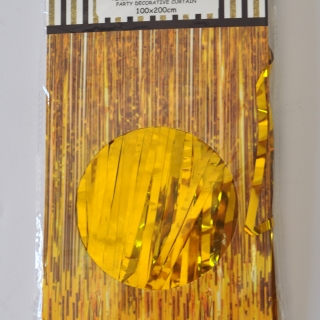 Ресни за декорация  /ПВЦ/ лъскави, цвят злато