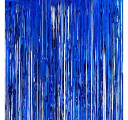 Ресни за декорация  /ПВЦ/ лъскави, цвят тъмно син, 100х200см