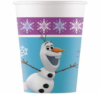 Хартиена парти чашка Елза и Ана Замръзналото Кралство  / Frozen, лицензирана Disney, 8 бр. в опаковка