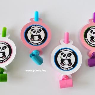 Персонализирана парти свирка Панда за момиче
