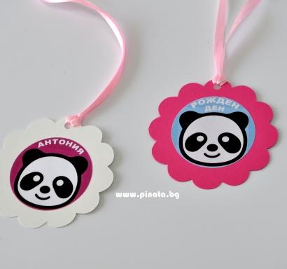 Персонализиран парти медальон Панда / Party Medallion Panda