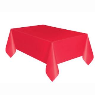 Покривка за еднократна употреба, червена 137х274 см