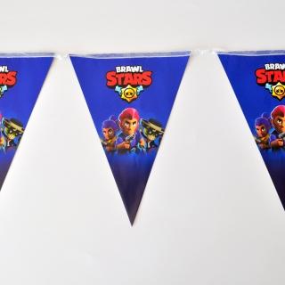 Банер гирлянд за декорация Брол Старс, 2,00 м дължина