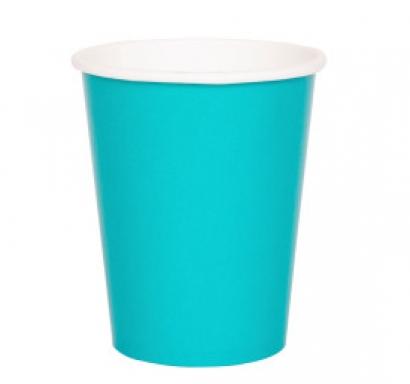 Хартиена парти чашка карибско синя 250 мл