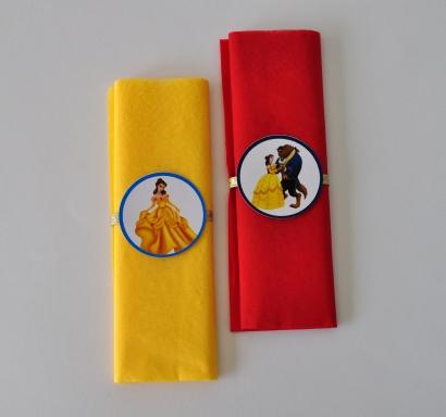 Парти салфетки Красавицата и Звяра 33х33 см, 5 бр. пакет