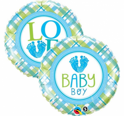Фолиев балон Бебе момче / Baby Boy, 46 см лиценз Qualatex /Gd/