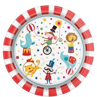 Хартиена парти чинийка Цирк карнавал 23 см, / Circus Carnival